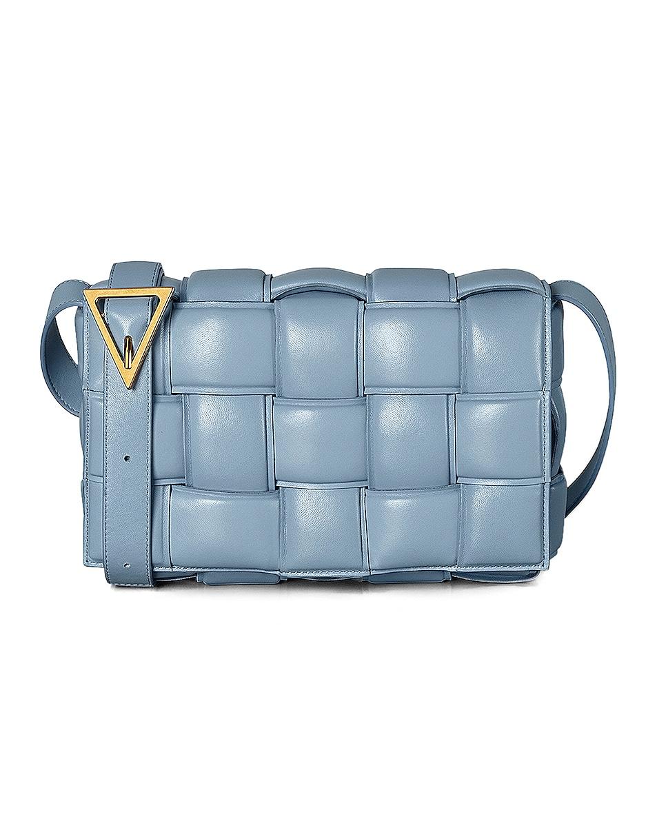 Image 1 of Bottega Veneta Padded Cassette Bag in Ice & Gold