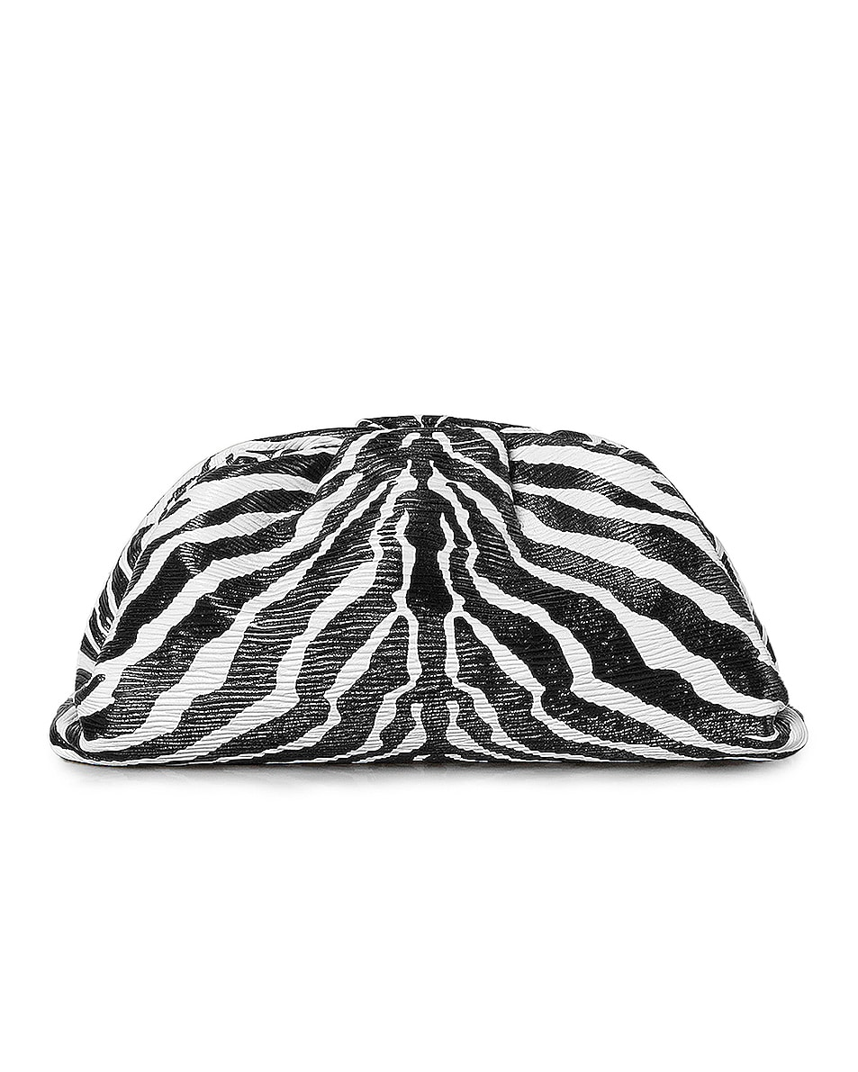Image 1 of Bottega Veneta The Pouch Clutch in Zebra & Silver