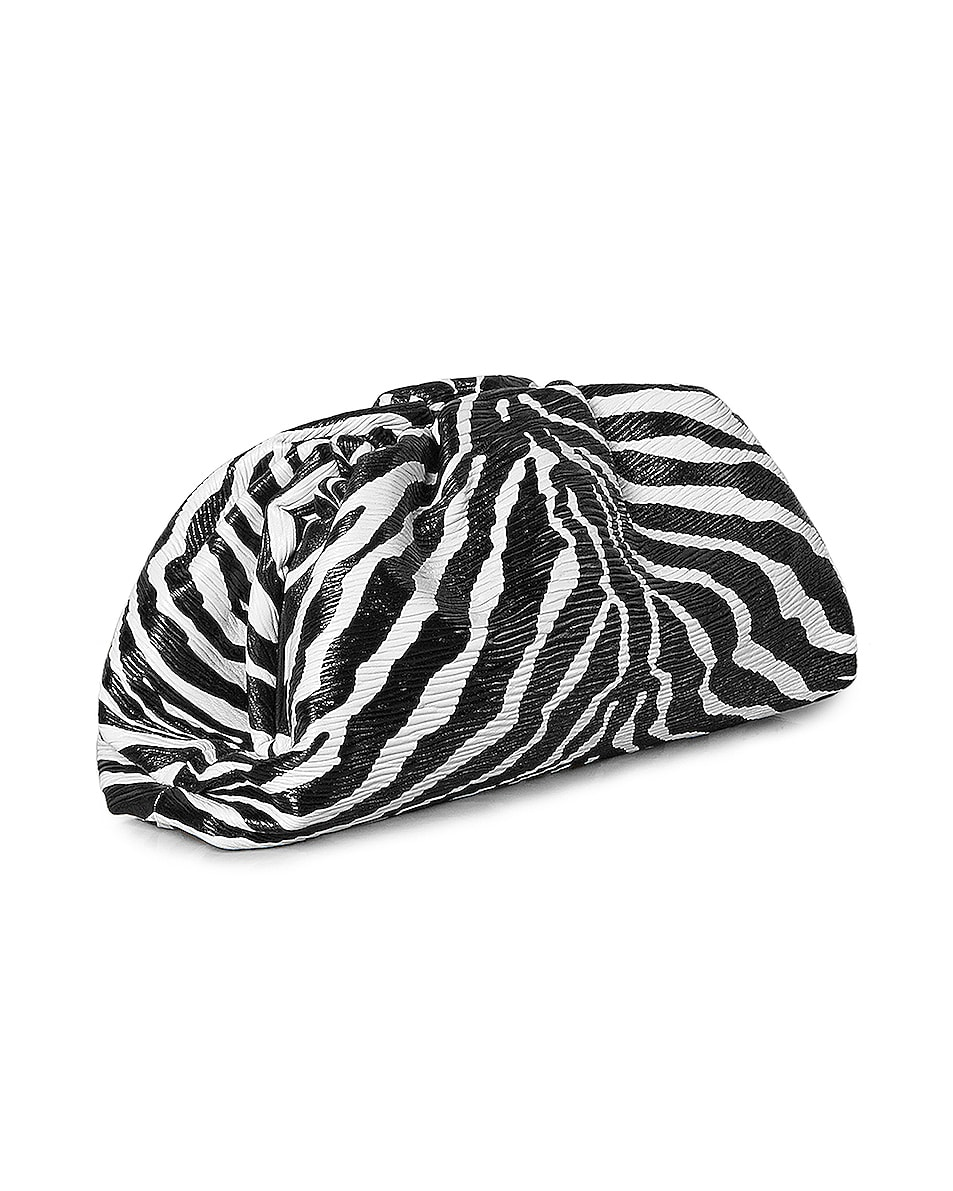 Image 3 of Bottega Veneta The Pouch Clutch in Zebra & Silver