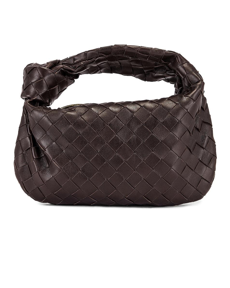 Image 1 of Bottega Veneta Woven Shoulder Bag in Fondente & Gold