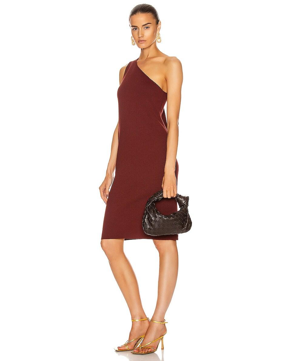 Image 2 of Bottega Veneta Woven Shoulder Bag in Fondente & Gold