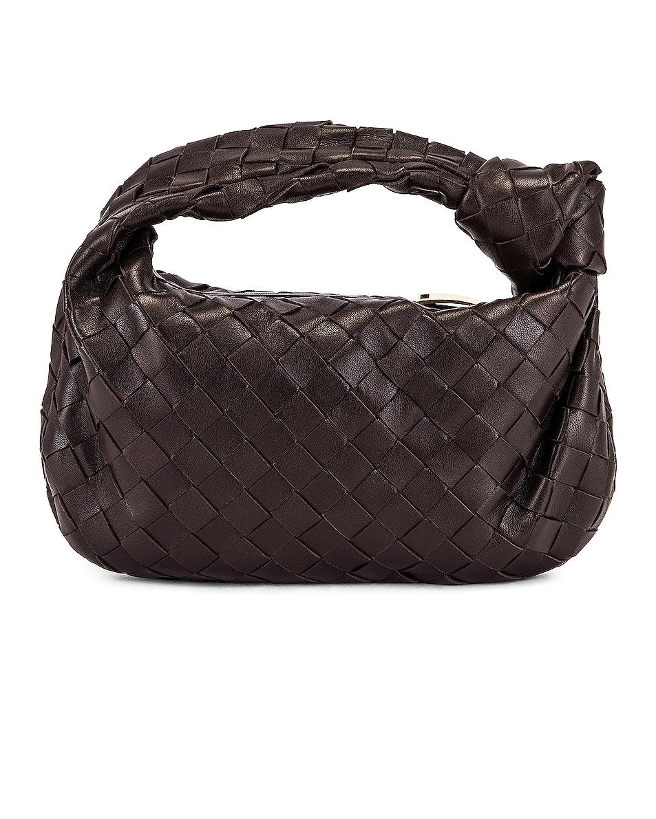 Image 3 of Bottega Veneta Woven Shoulder Bag in Fondente & Gold