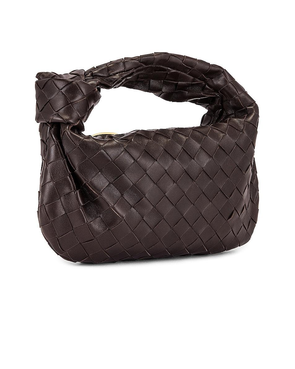 Image 4 of Bottega Veneta Woven Shoulder Bag in Fondente & Gold
