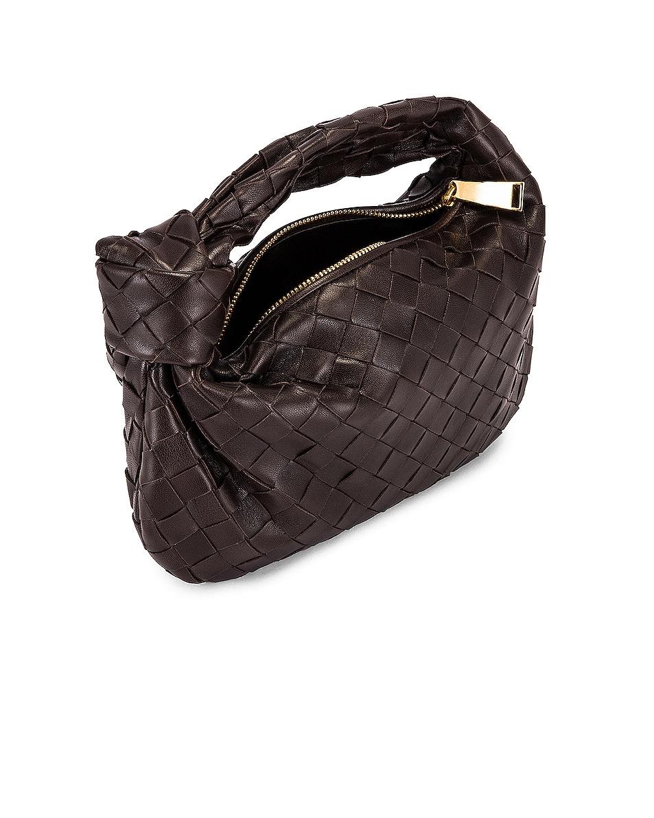 Image 5 of Bottega Veneta Woven Shoulder Bag in Fondente & Gold
