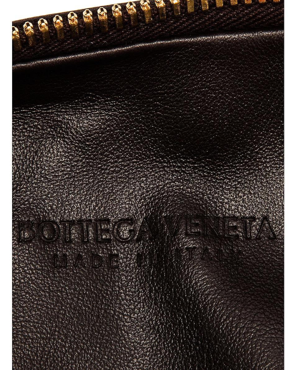 Image 6 of Bottega Veneta Woven Shoulder Bag in Fondente & Gold