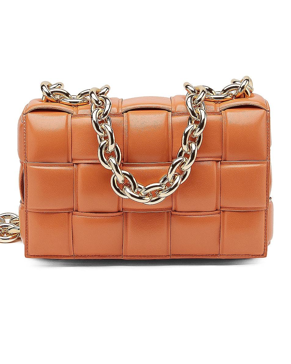 Image 1 of Bottega Veneta Chain Cassette Bag in Clay & Gold