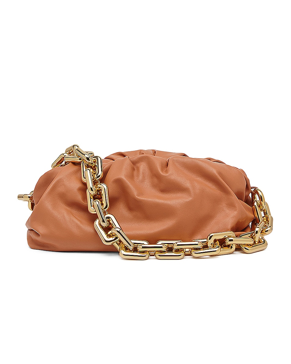 Image 1 of Bottega Veneta The Chain Pouch Bag in Clay & Gold