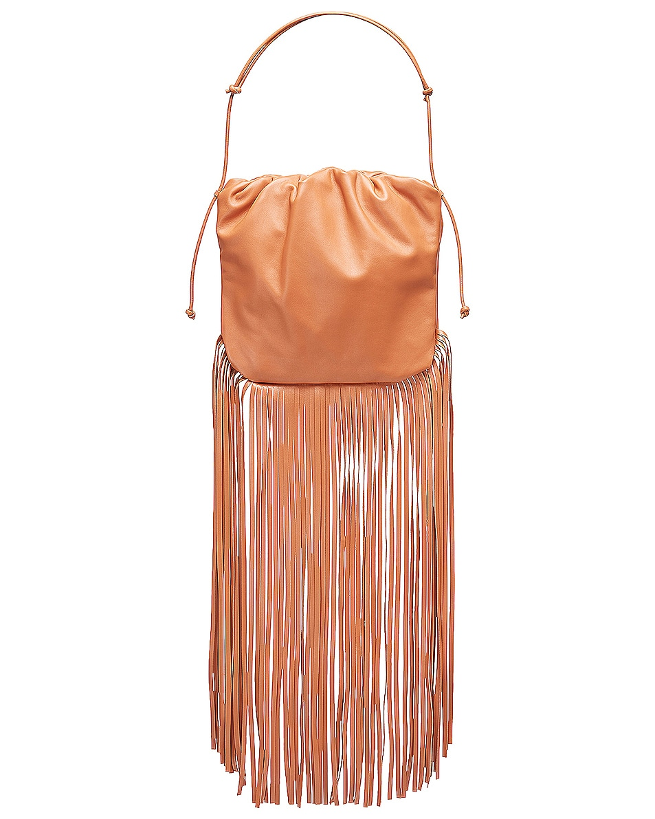 Bottega Veneta The Fringe Pouch In Brown