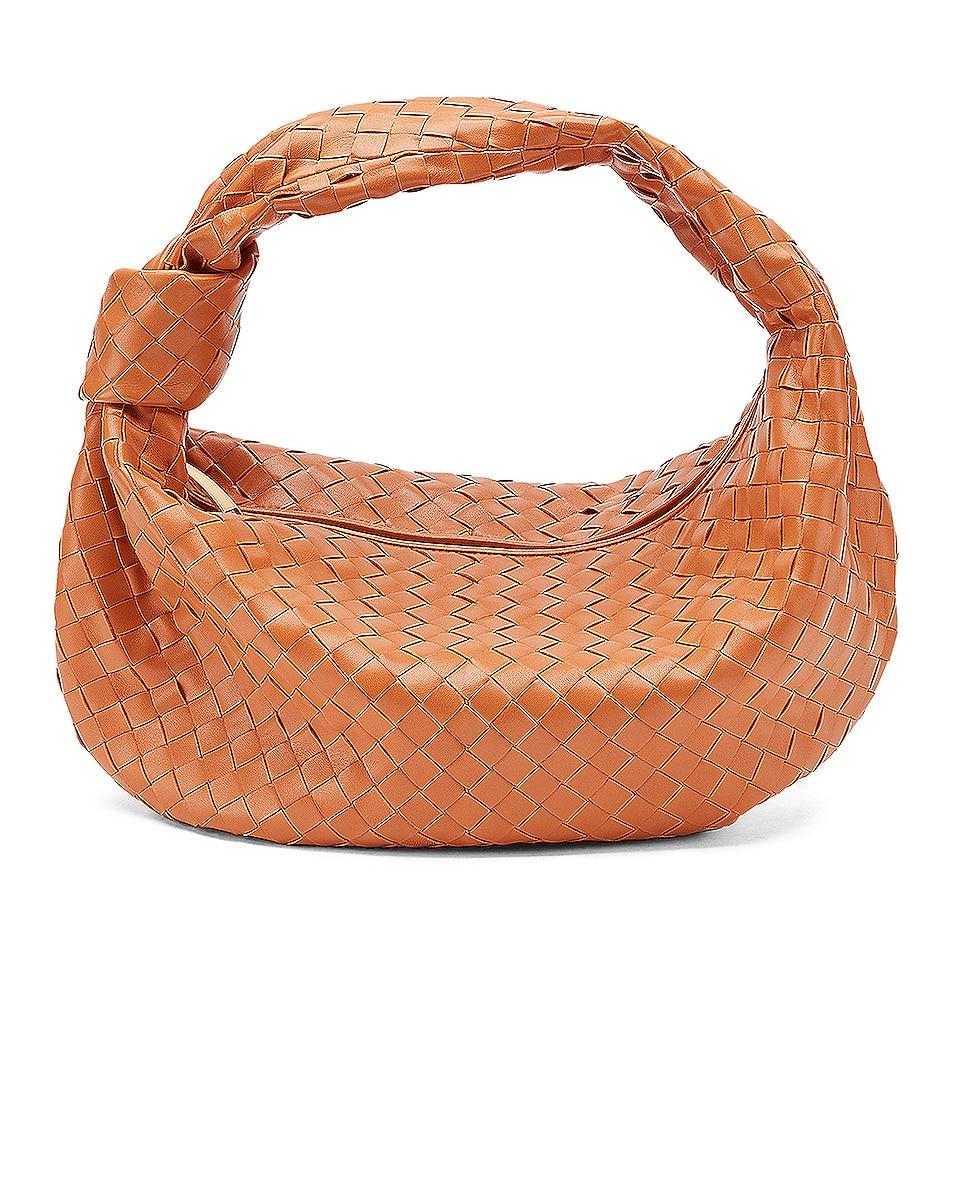 Image 1 of Bottega Veneta Small Jodie Hobo Bag in Clay & Gold