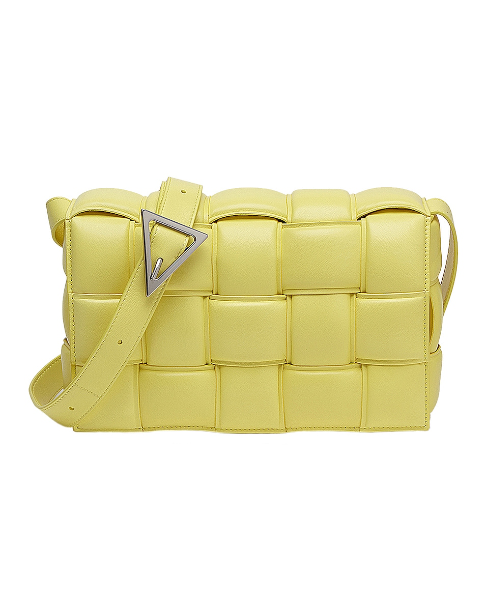 Image 1 of Bottega Veneta Small Padded Cassette Bag in Sherbet & Silver