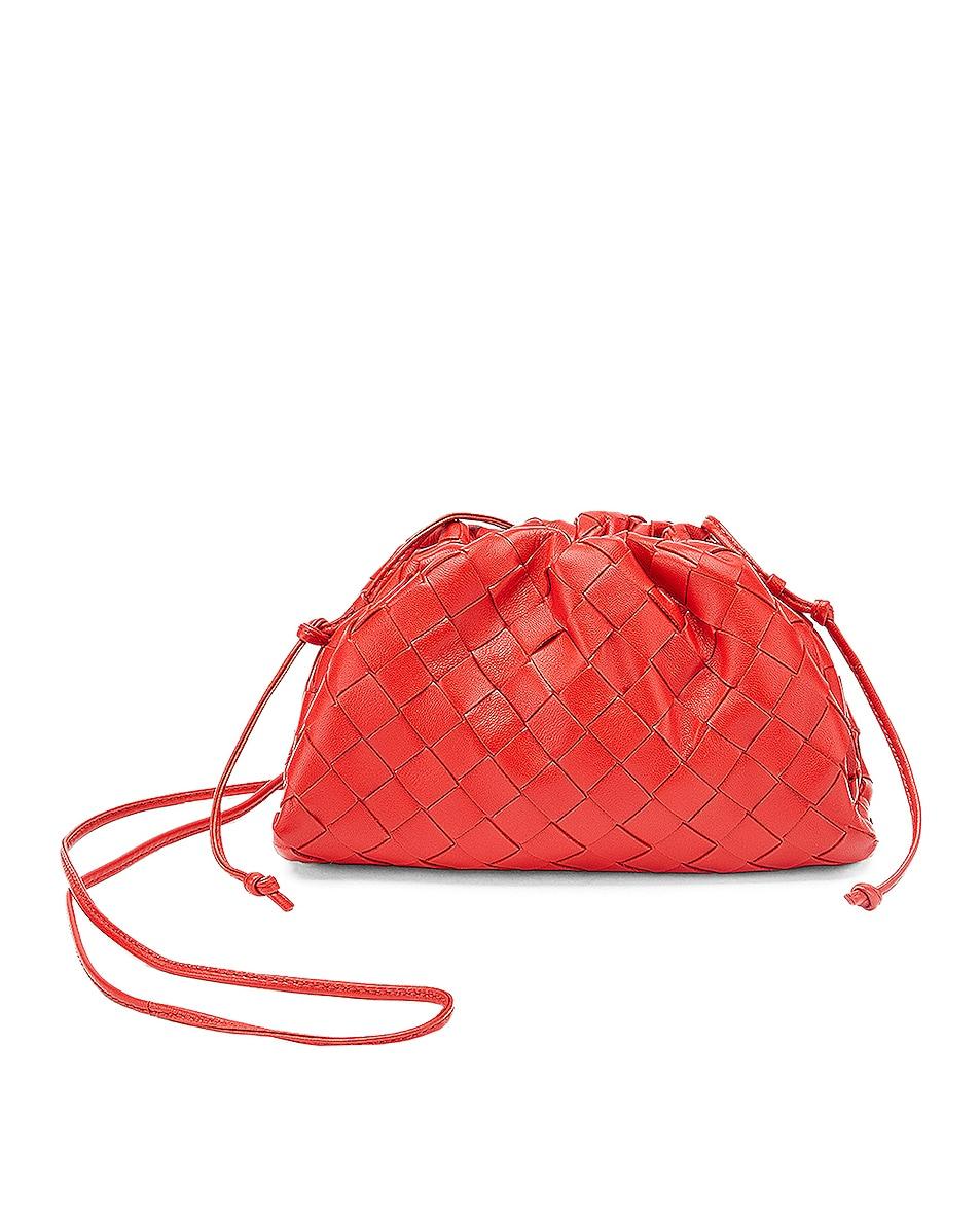 Image 1 of Bottega Veneta The Mini Pouch Crossbody Bag in Nail Polish & Silver