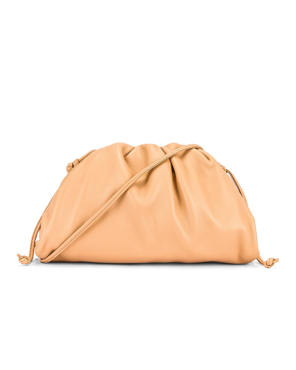 Image 1 of Bottega Veneta The Mini Pouch Crossbody Bag in Almond