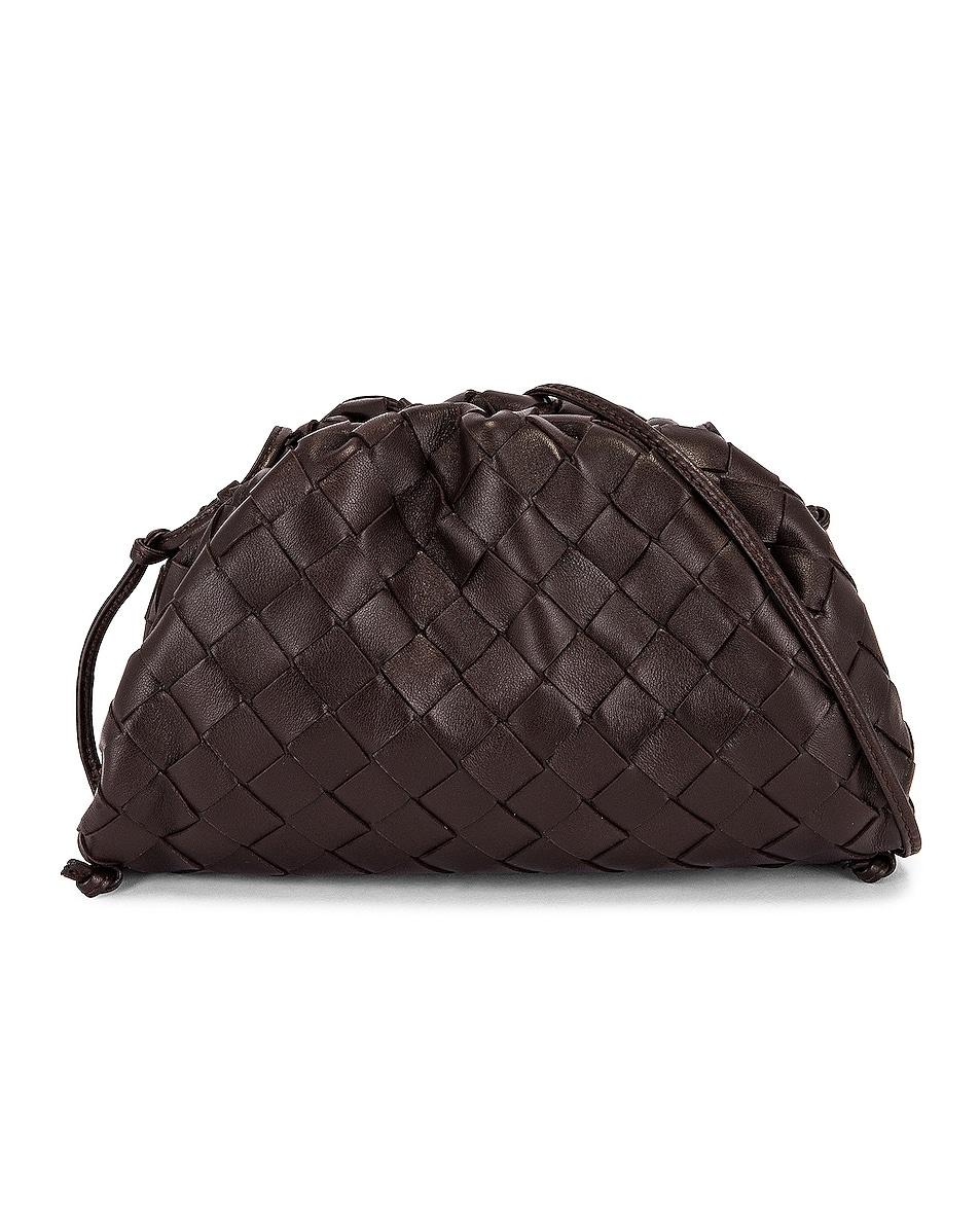 Image 1 of Bottega Veneta The Mini Pouch Crossbody Bag Crossbody Bag in Fondente & Gold