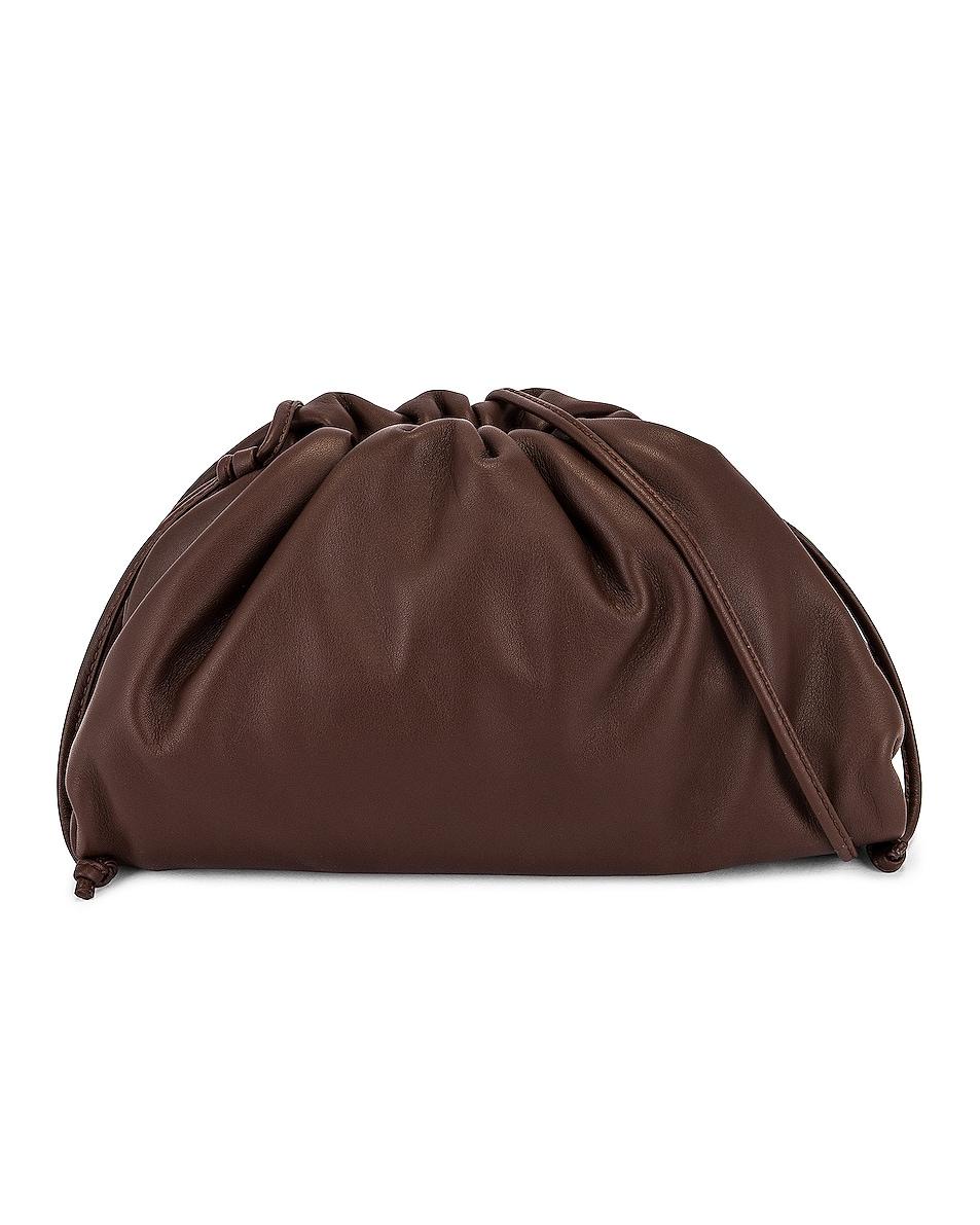 Image 1 of Bottega Veneta The Mini Pouch Crossbody Bag in Brownie & Gold