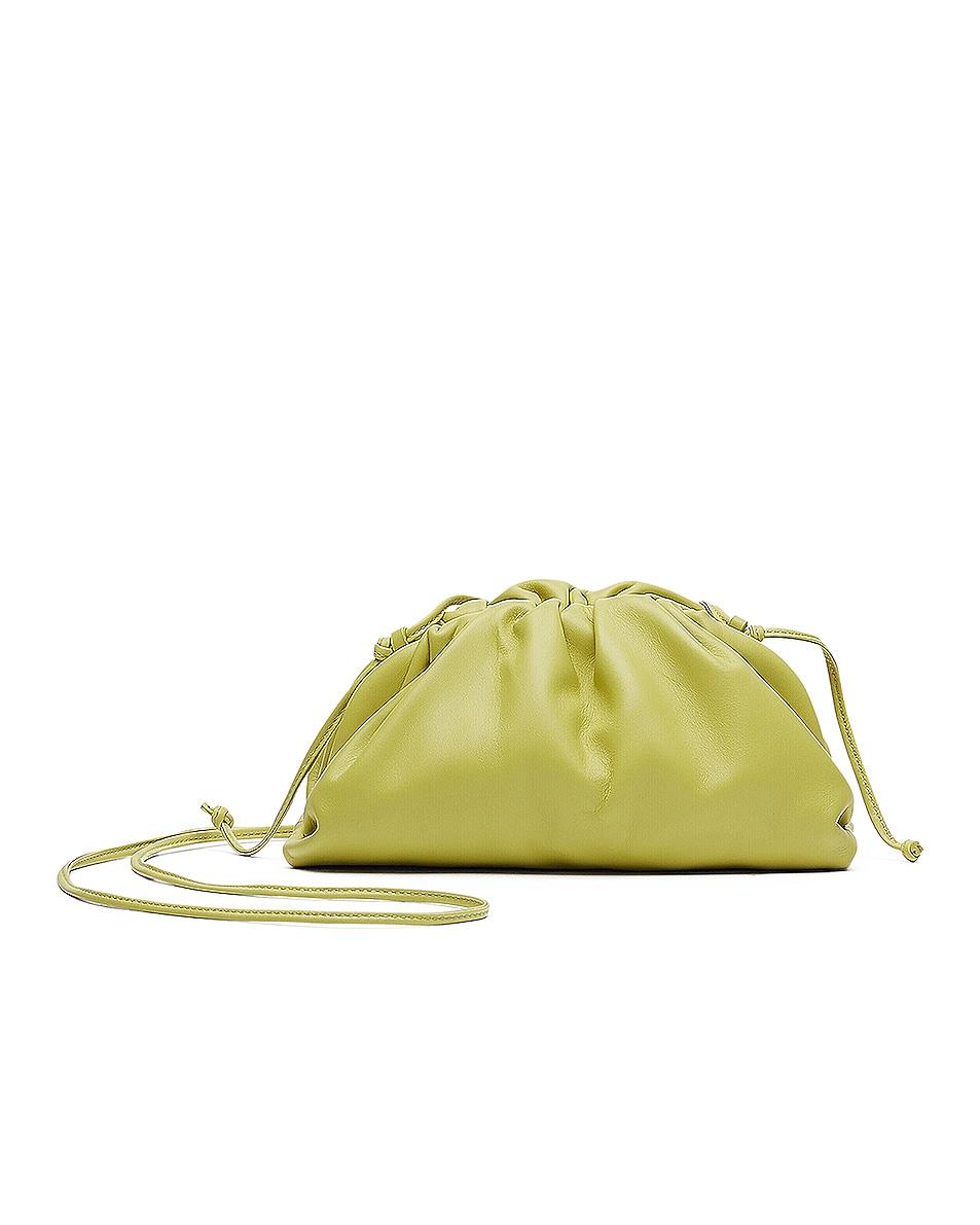 Image 1 of Bottega Veneta The Mini Pouch Crossbody Bag in Kiwi & Gold