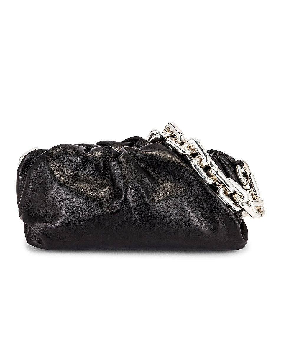 Image 1 of Bottega Veneta The Chain Pouch Bag in Black & Silver