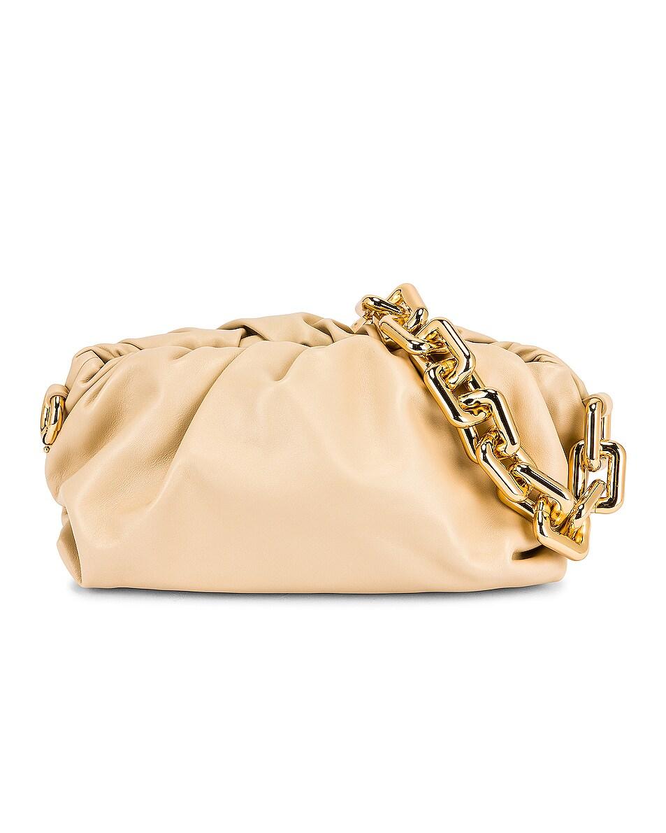 Image 1 of Bottega Veneta The Chain Pouch Bag in Porridge & Gold