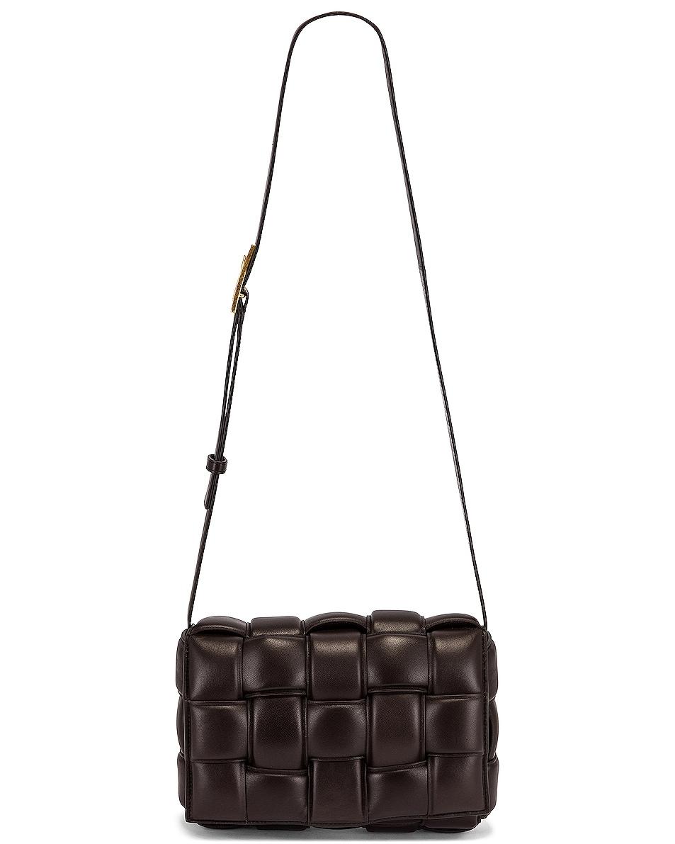 Image 1 of Bottega Veneta Padded Cassette Crossbody Bag in Fondente & Gold