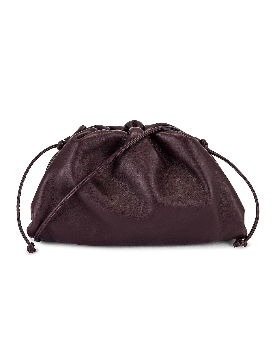 Image 1 of Bottega Veneta The Mini Pouch Crossbody Bag in Grape & Gold