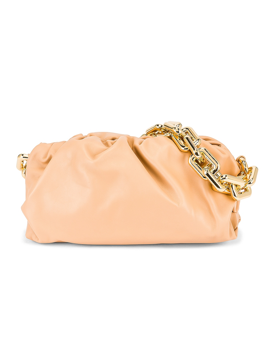 Image 1 of Bottega Veneta The Chain Pouch Bag in Almond & Gold
