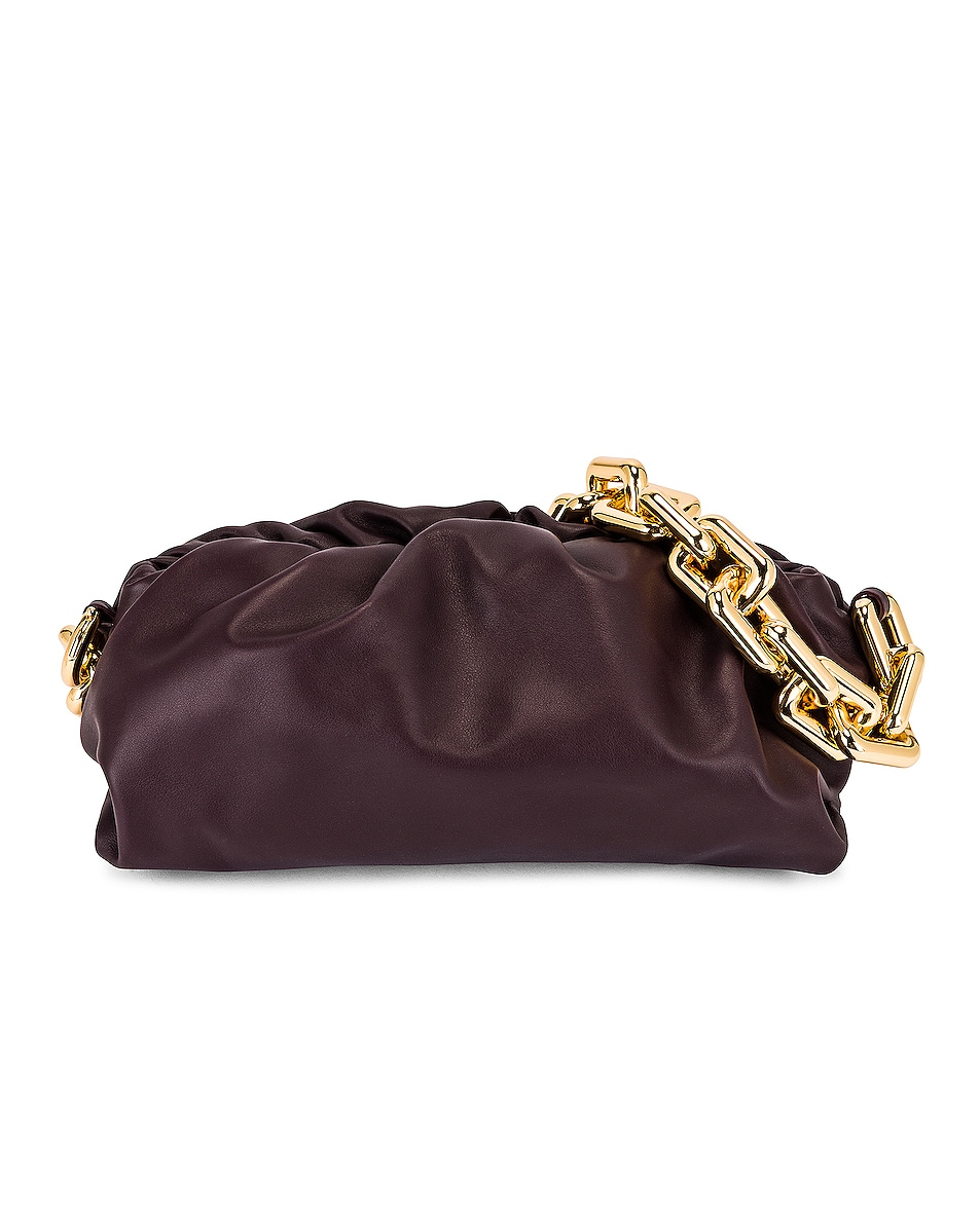 Image 1 of Bottega Veneta The Chain Pouch Bag in Grape & Gold