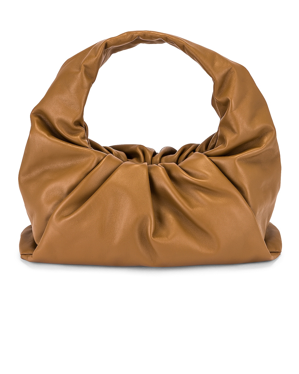 Image 1 of Bottega Veneta Small Shoulder Bag in Cammello & Gold