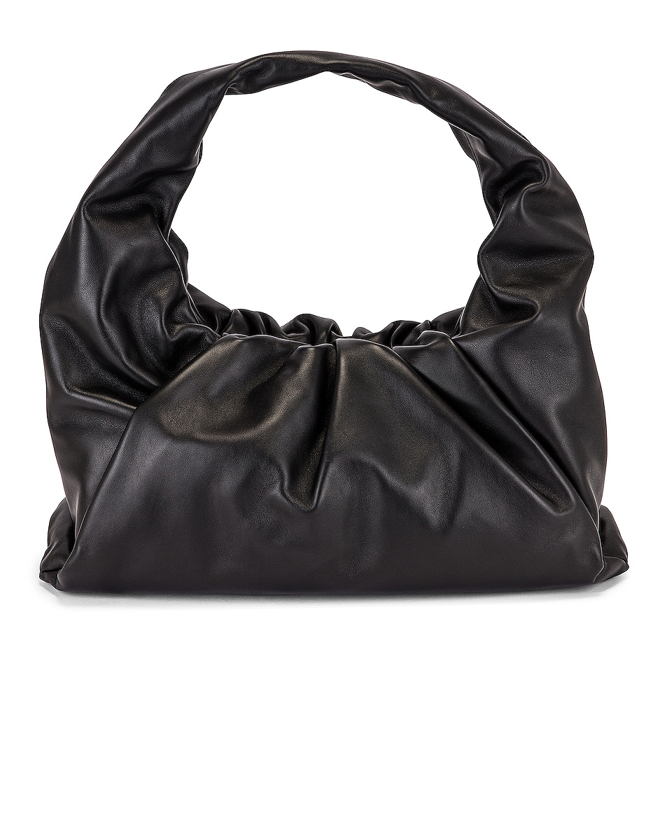 Image 1 of Bottega Veneta Small Shoulder Bag in Black & Silver