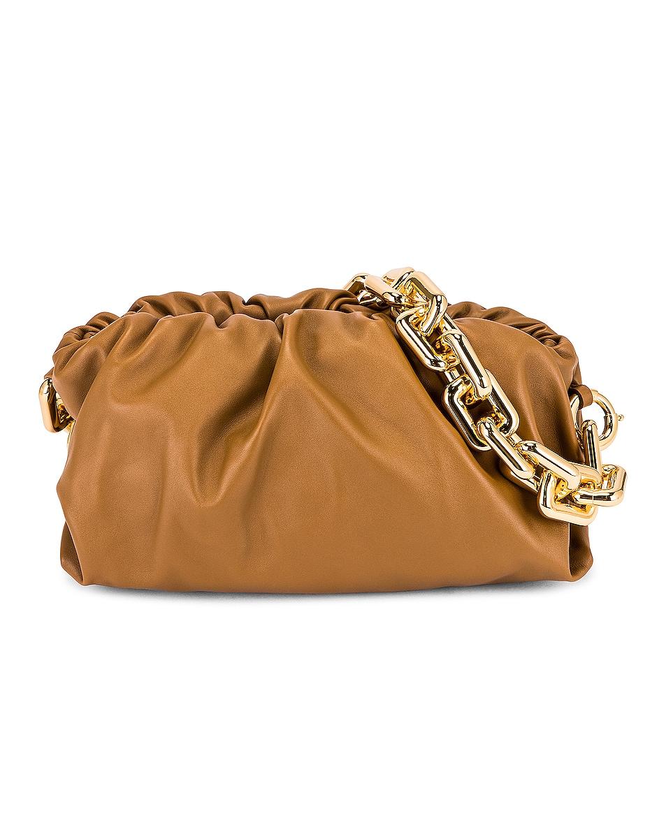 Image 1 of Bottega Veneta The Chain Pouch Bag in Cammello & Gold