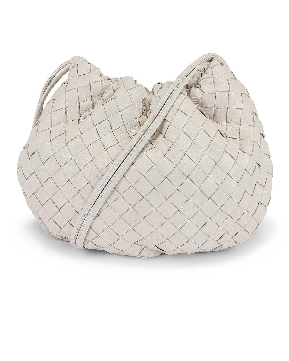 Image 1 of Bottega Veneta The Bulb Mini Bag in Chalk & Gold