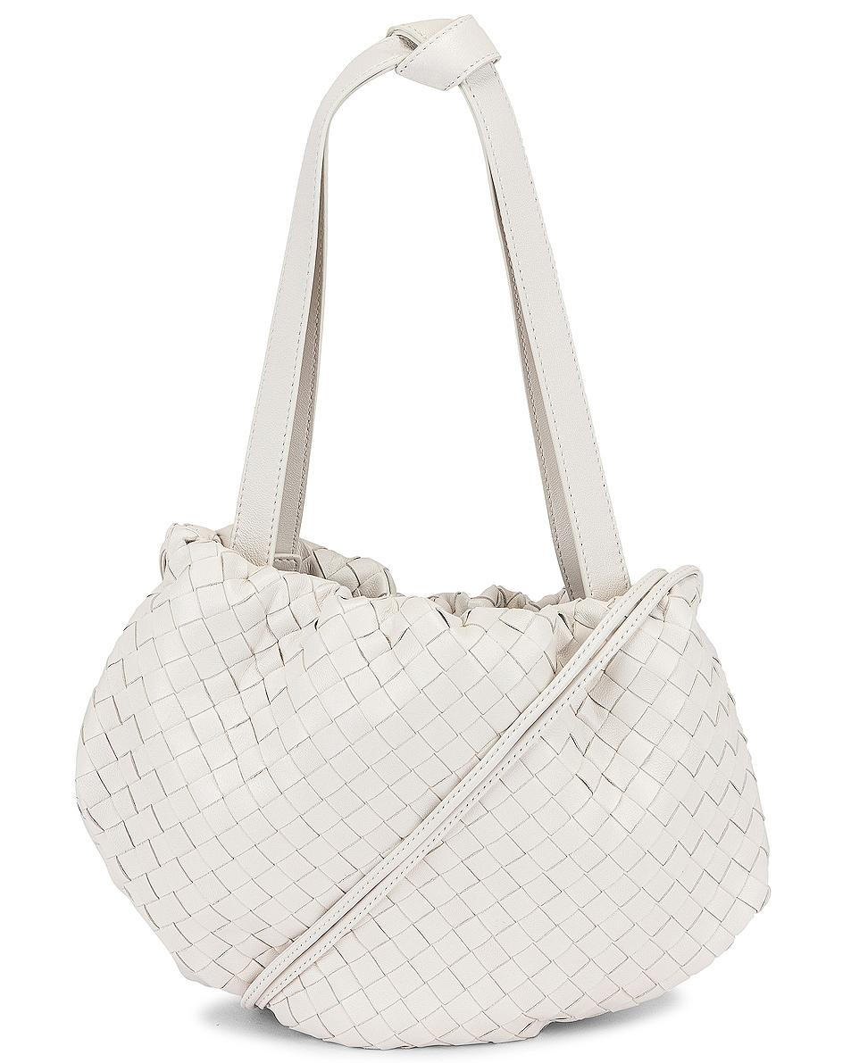 Image 1 of Bottega Veneta The Bulb Bag in Chalk & Gold