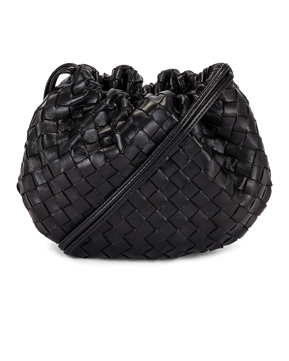 Image 1 of Bottega Veneta The Bulb Mini Bag in Black & Gold