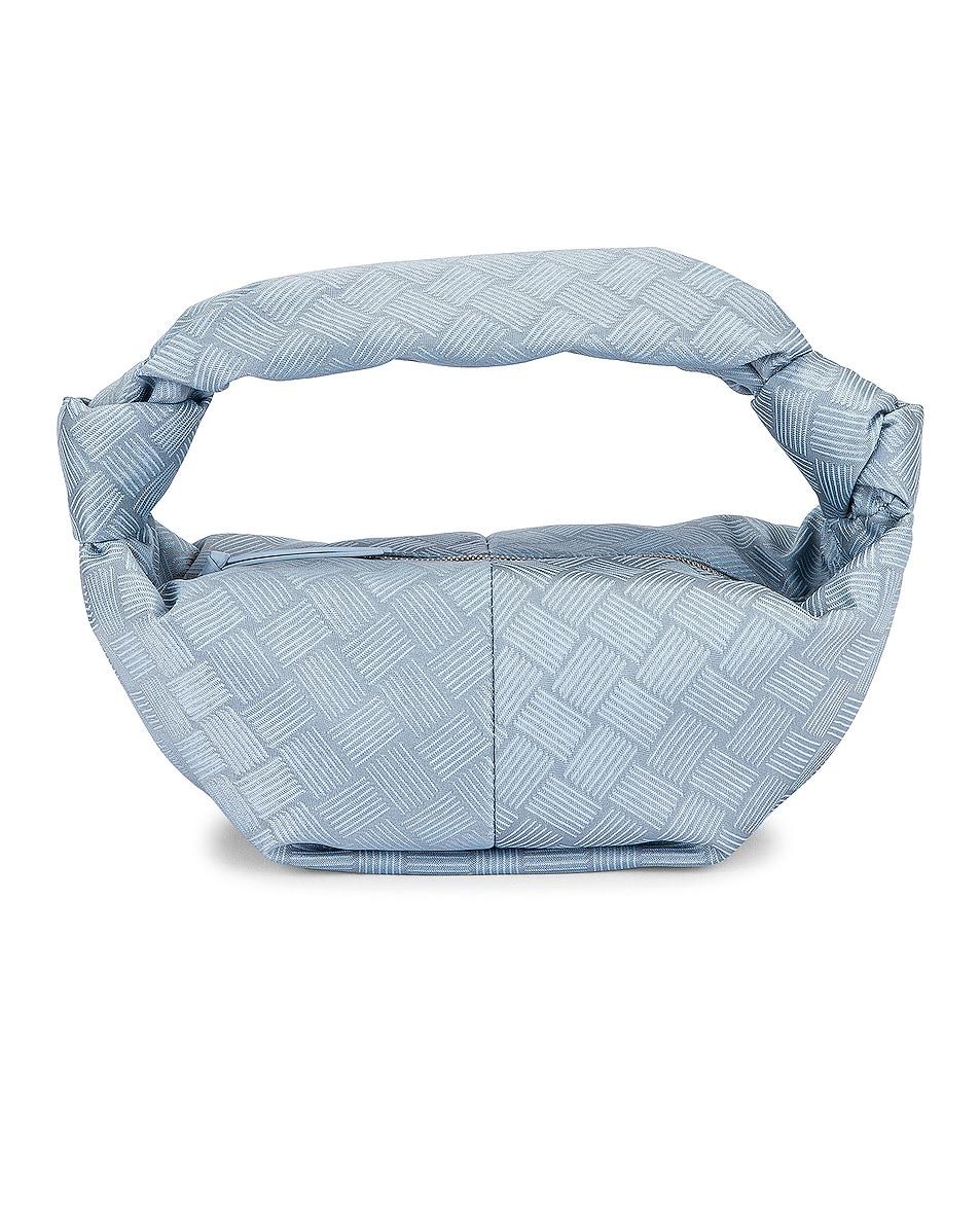 Image 1 of Bottega Veneta Mini Nylon Double Knot Bag in Bubble & Silver