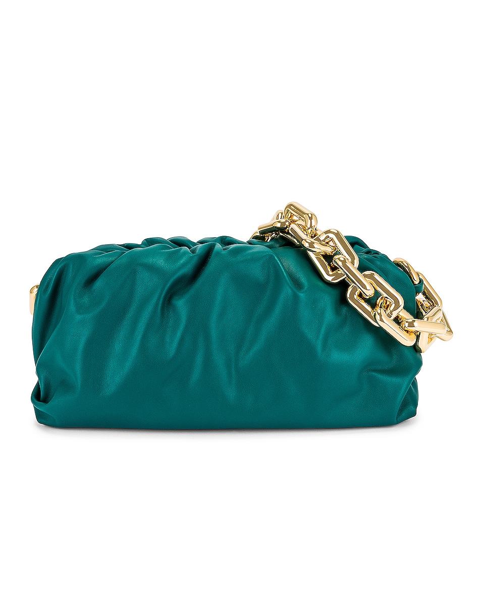 Image 1 of Bottega Veneta The Pouch Chain Bag in Mallard & Gold