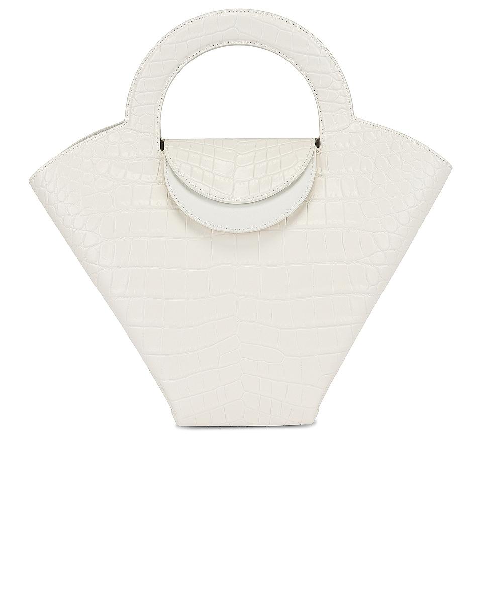 Image 1 of Bottega Veneta Skypper Tote in White & Gold