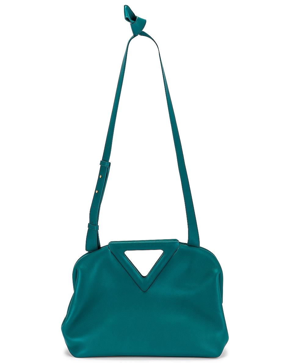 Image 1 of Bottega Veneta Point Top Handle Bag in Mallard & Gold