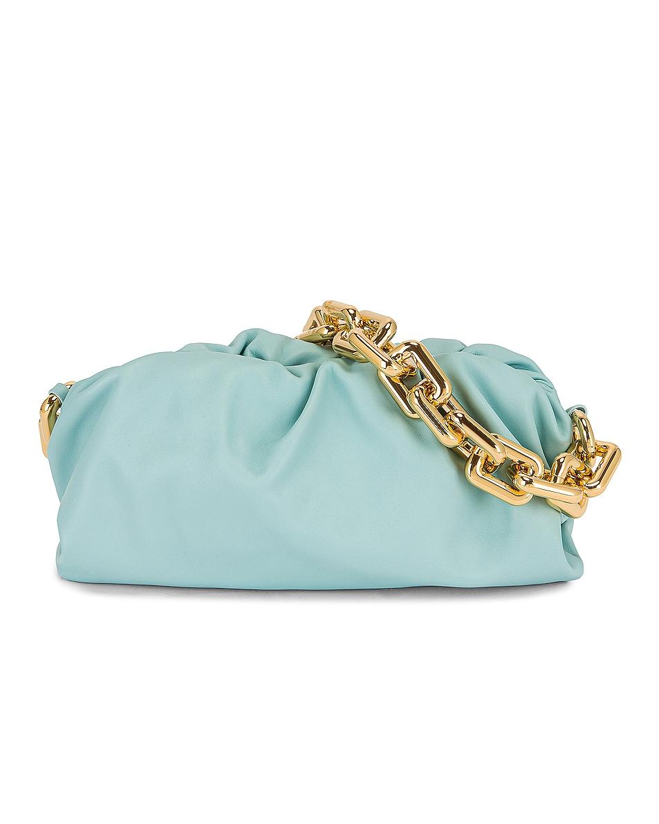 Image 1 of Bottega Veneta The Pouch Chain Bag in Spearmint & Gold