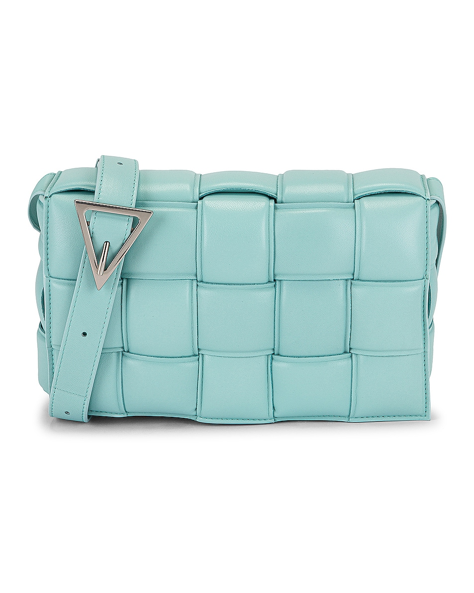 Image 1 of Bottega Veneta Padded Cassette Crossbody Bag in Spearmint & Silver