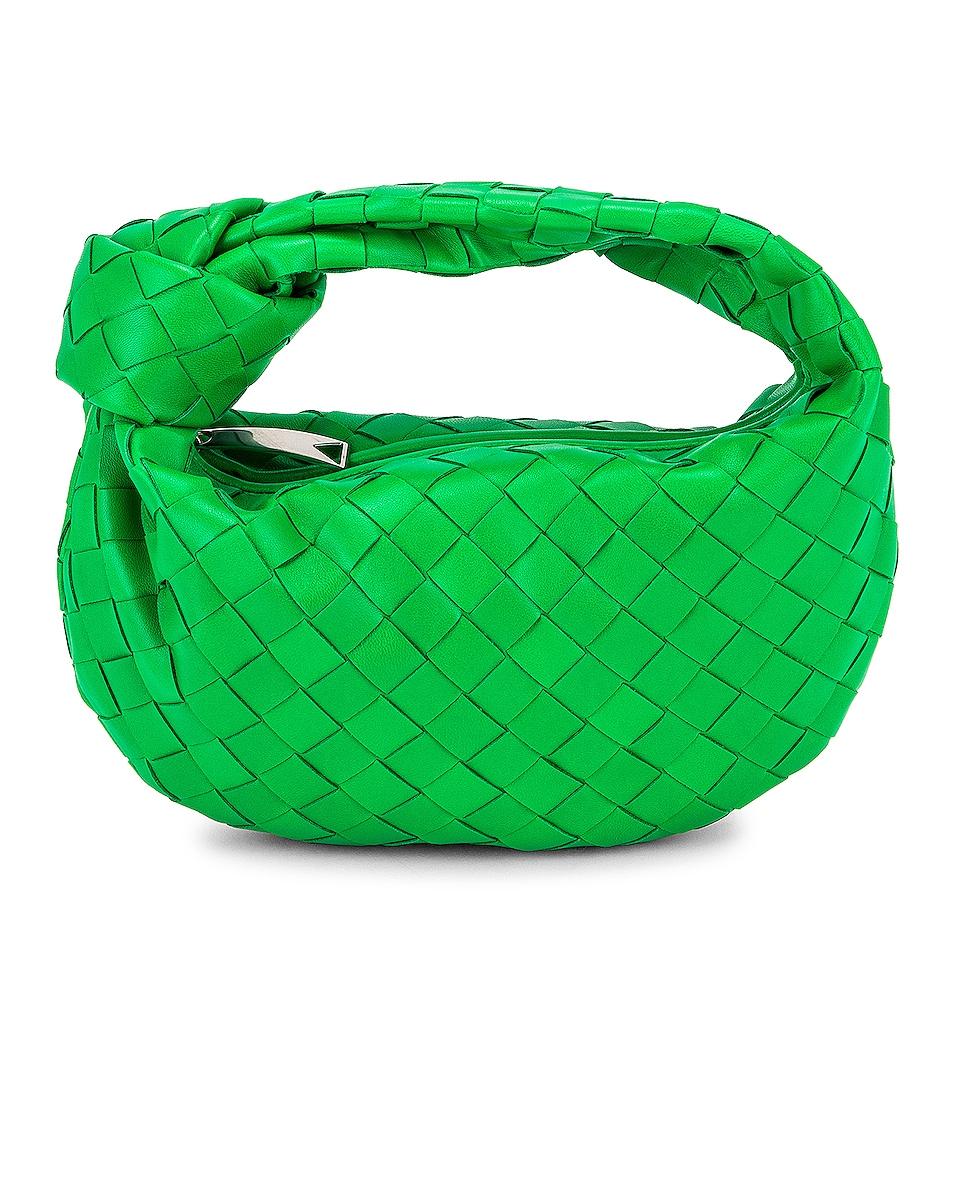 Image 1 of Bottega Veneta Mini Jodie Bag in Parakeet & Silver