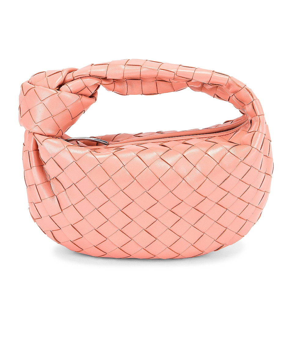 Image 1 of Bottega Veneta Mini Jodie Bag in Peachy & Silver