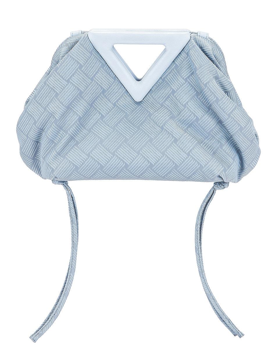 Image 1 of Bottega Veneta Nylon Triangle Handle Pouch in Bubble & Silver