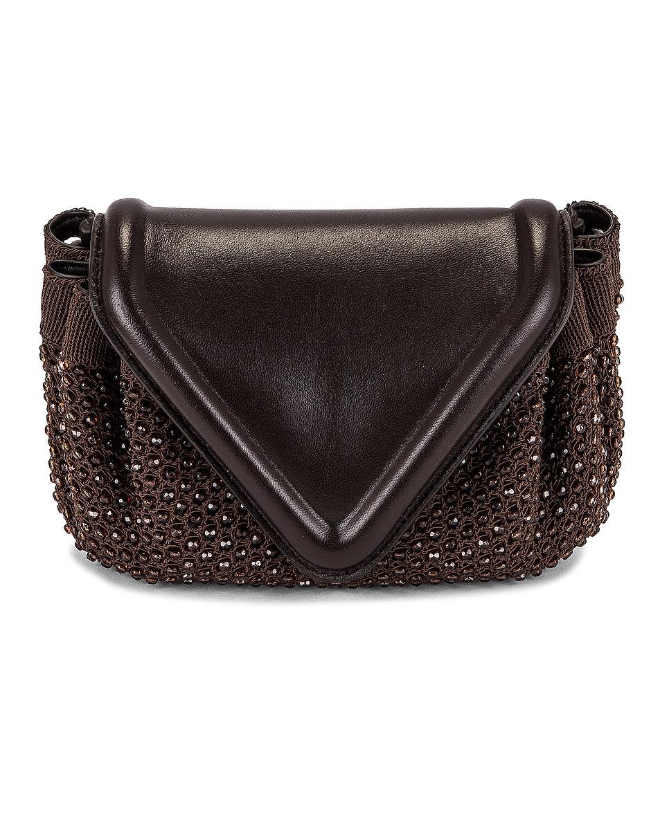 Image 1 of Bottega Veneta Bottega Venet Beaded Beak Bag in Fondant & Ebony & Gold