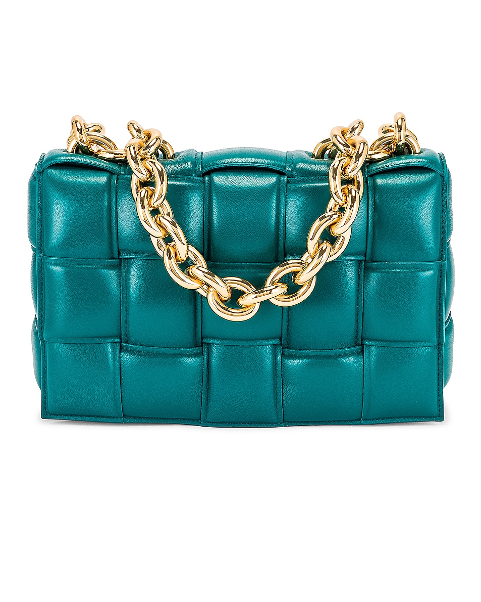 Image 1 of Bottega Veneta The Chain Cassette Bag in Mallard & Gold