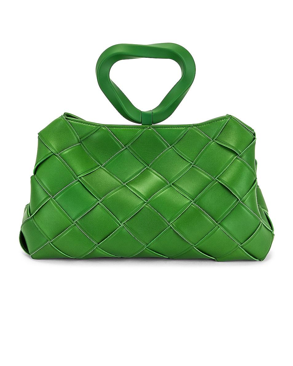 Image 1 of Bottega Veneta Ring Top Handle Bag in Lawn & Silver