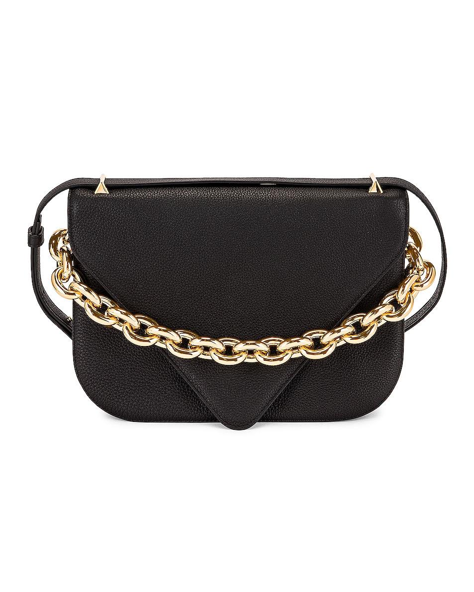 Image 1 of Bottega Veneta Medium Envelope Bag in Black & Gold