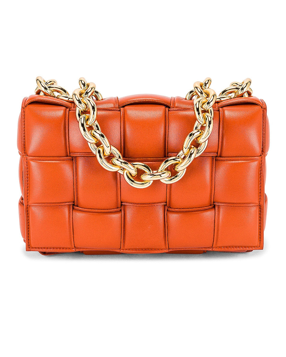 Image 1 of Bottega Veneta The Chain Cassette Bag in Maple & Gold