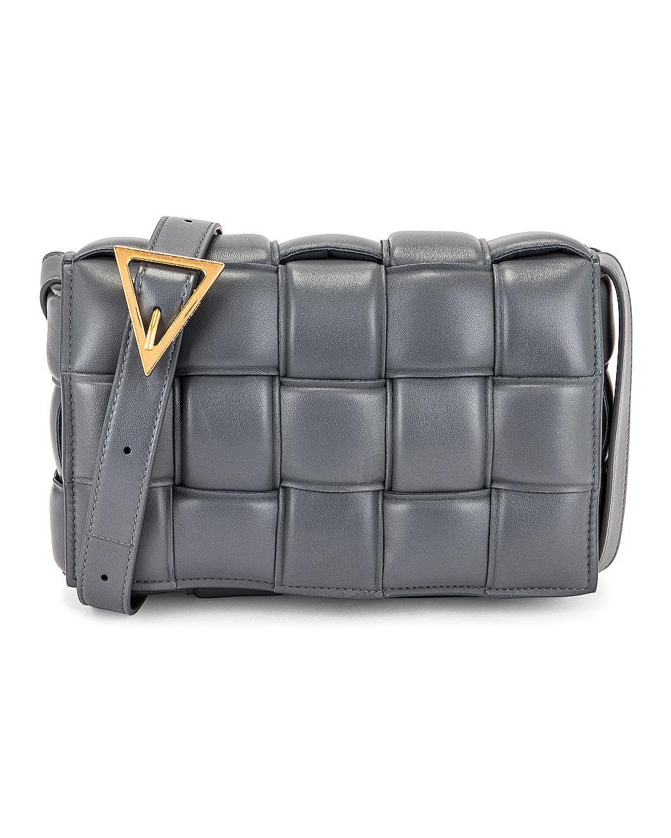 Image 1 of Bottega Veneta The Padded Cassette Bag in Thunder & Gold