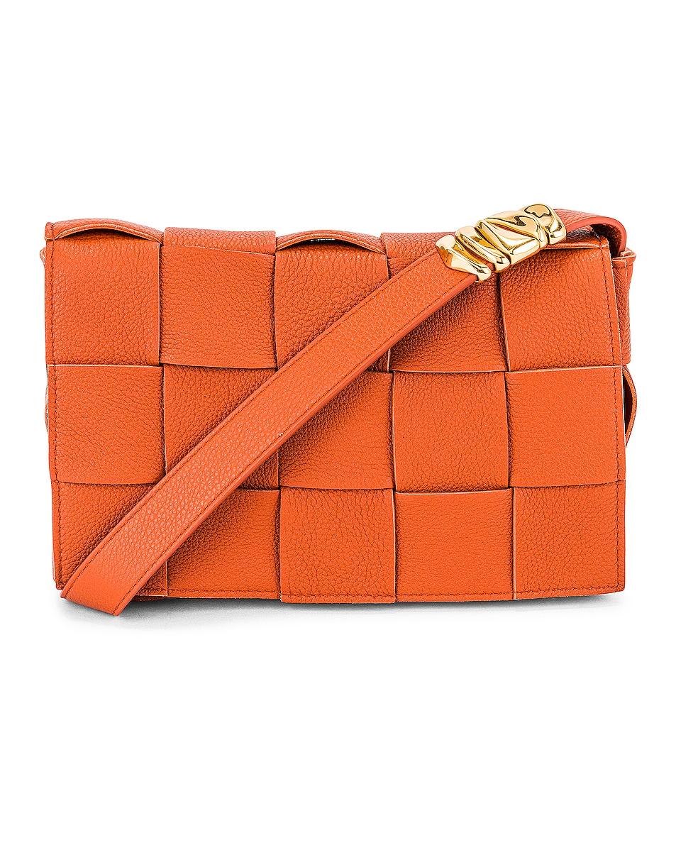 Image 1 of Bottega Veneta The Cassette Bag in Maple & Gold
