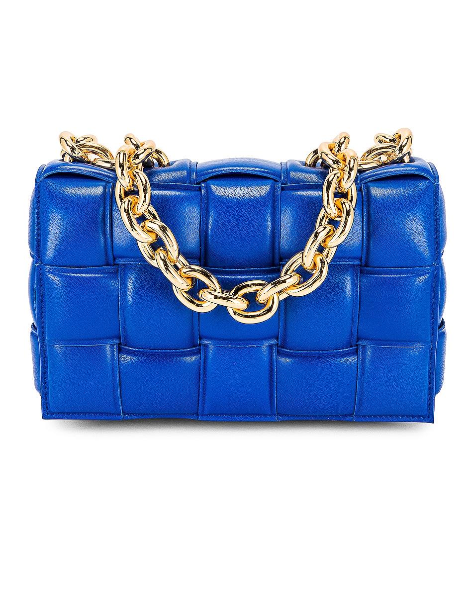 Image 1 of Bottega Veneta The Chain Cassette Bag in Cobalt & Gold