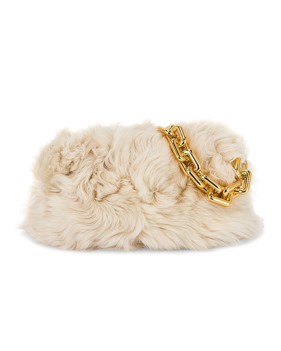 Image 1 of Bottega Veneta The Chain Pouch Bag in Popcorn & Gold