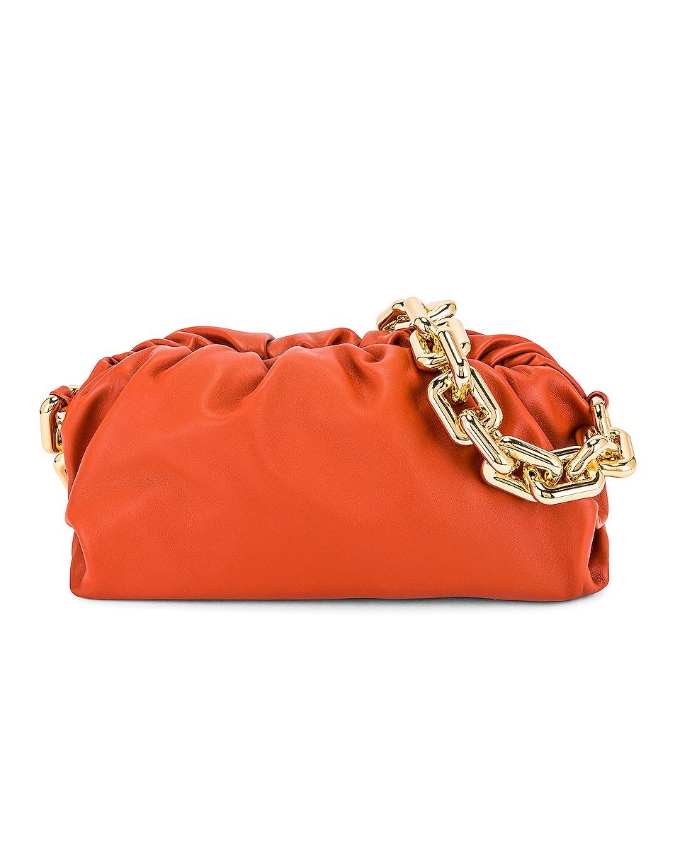 Image 1 of Bottega Veneta The Chain Pouch Bag in Maple & Gold